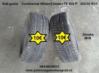 Polovne gume Beograd - Tip Model: Polovne zimske M+S gume  Opis: ContinentalWinterContact TS 850 P 205/55 R16